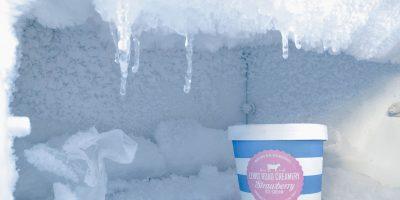 Freezer with tub of ice cream