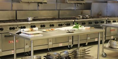 Fitted commercial kitchen equipment in a rented kitchen